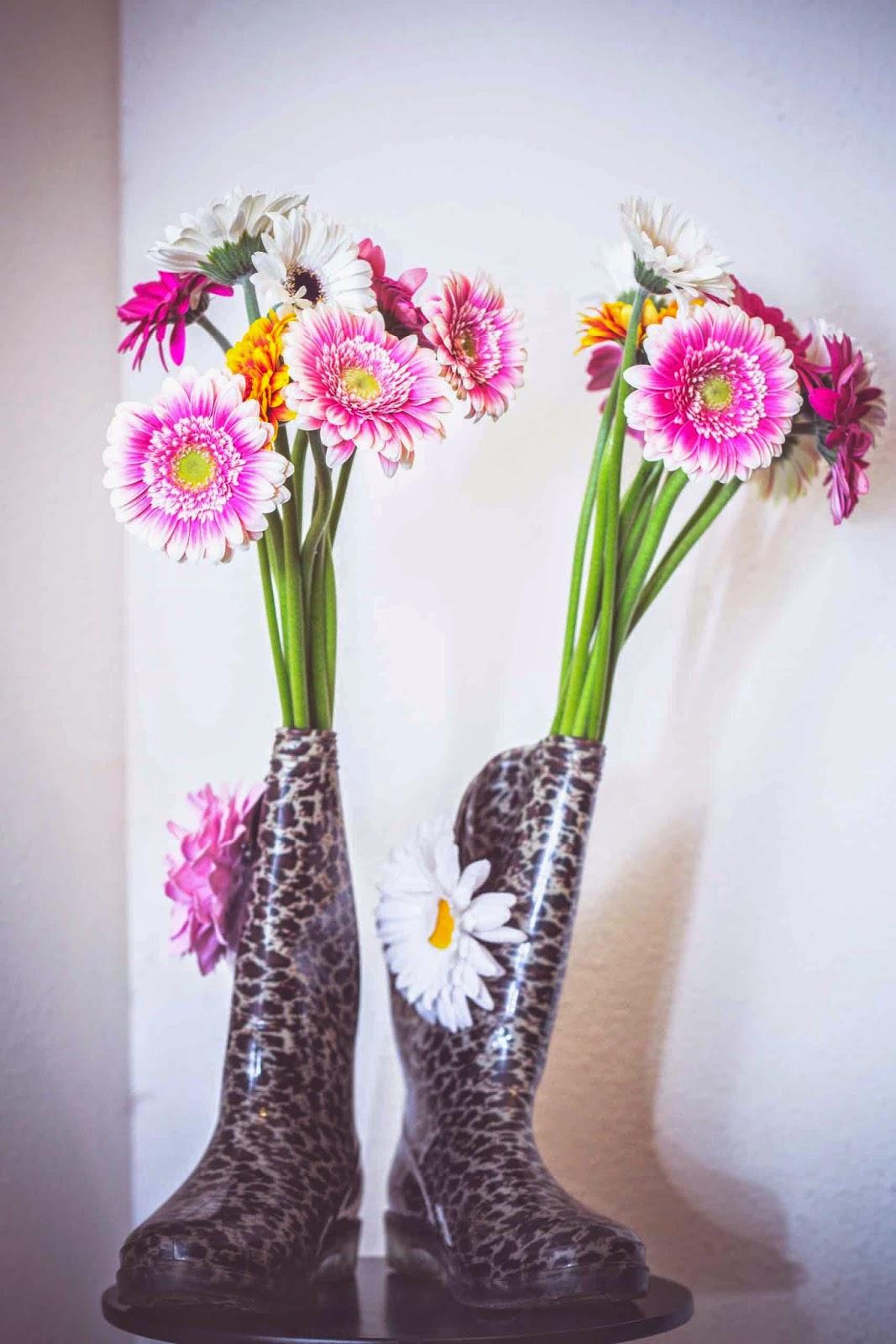 Id e d co recycler ses bottes de pluie en vase cha for Decoration exterieur pour paques