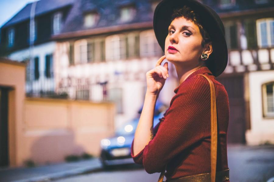 Maxi robe d'automne en laine Collectif Pin-up