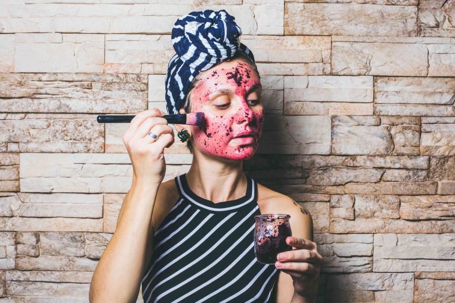 Masque pour le visage naturel à la fleur d'hibiscus