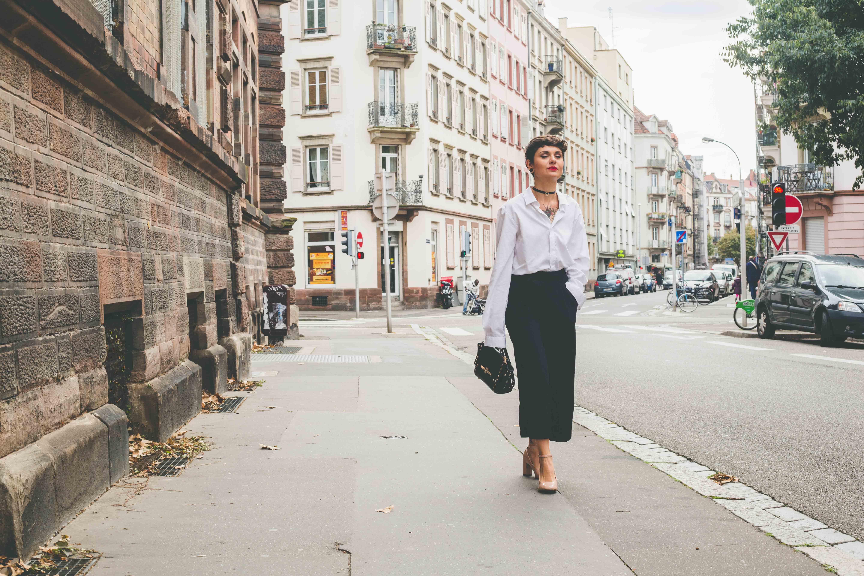 La À Strasbourg Cha Perchée Oversize Blog Mode Chemise dCtshQr