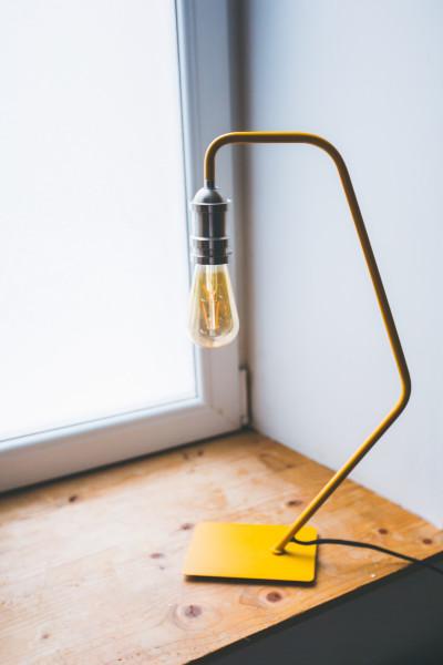 Lampe vintage design jaune