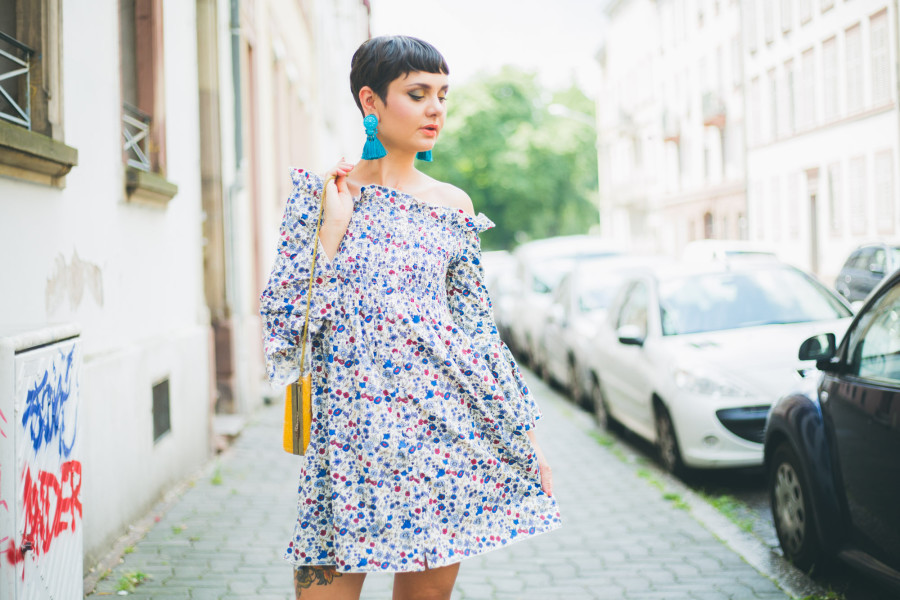 robe a fleur mango