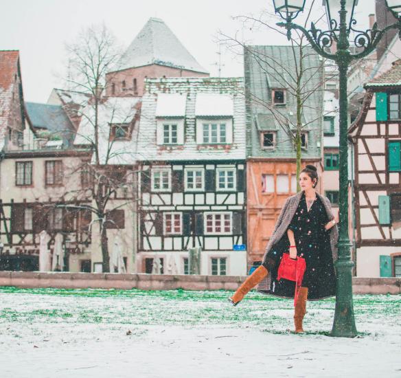 How to wear : la petite robe à fleurs en hiver ?
