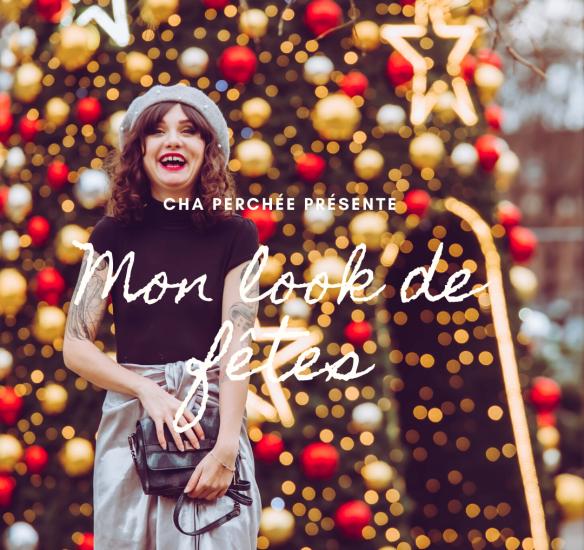 Idée look de Noël : la jupe argent